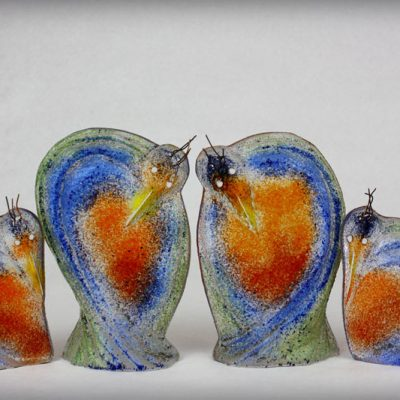 Oiseau Romantique - Cassandre Glass Studio